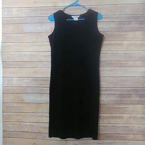 Exclusively Misook Black Tank Dress petite small